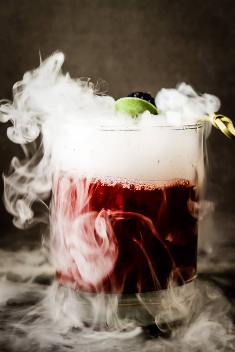 Cocktail Halloween Smoking Blackberry Sage Margarita