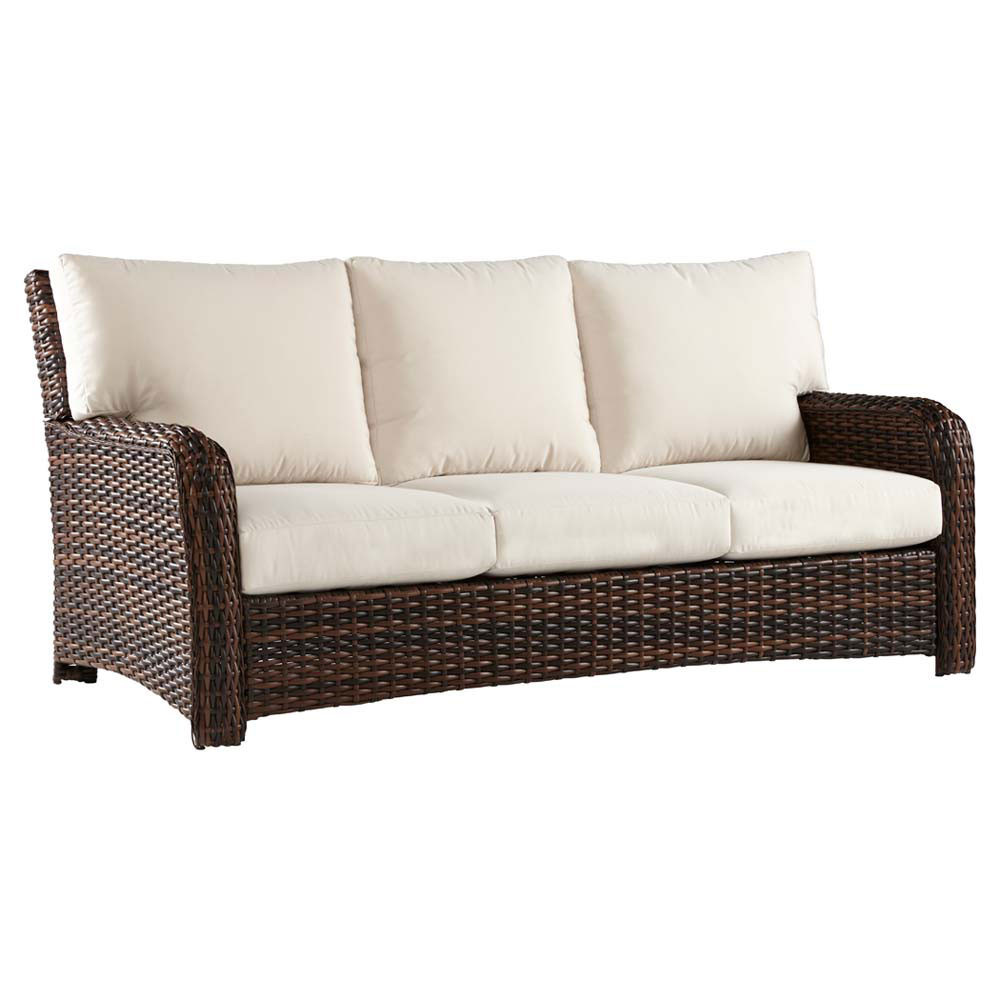 Sofa Rattan South Sea Rattan Saint Tropez Wicker Sofa - Wicker.com