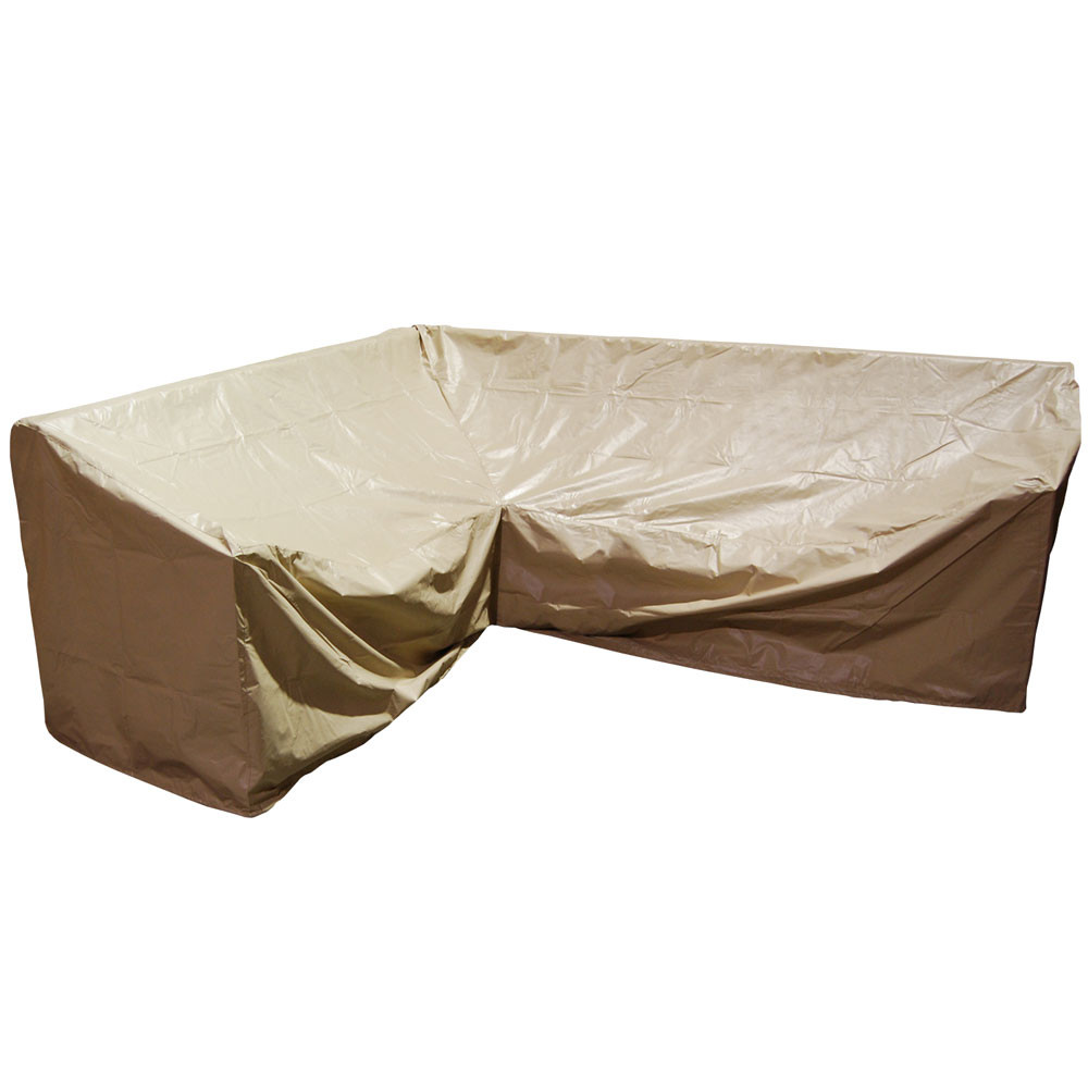 Outdoor Covers Forever Patio Hampton Wicker 6 Piece Right Facing Sectional Furniture Cover