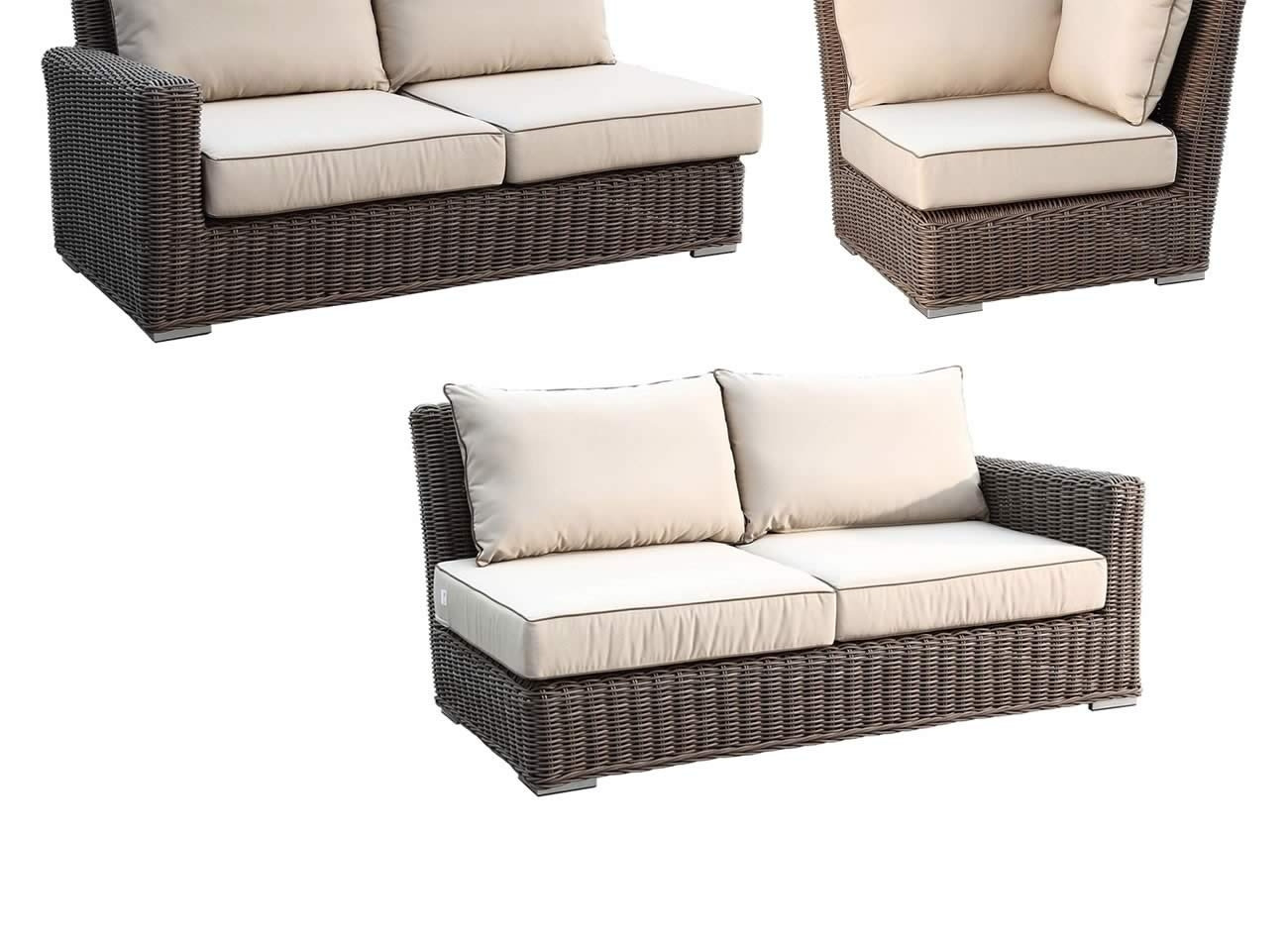 Rattan Corner Sofa Replacement Cushions Sunset West Coronado 3 Piece Wicker Sectional Set Replacement Cushion