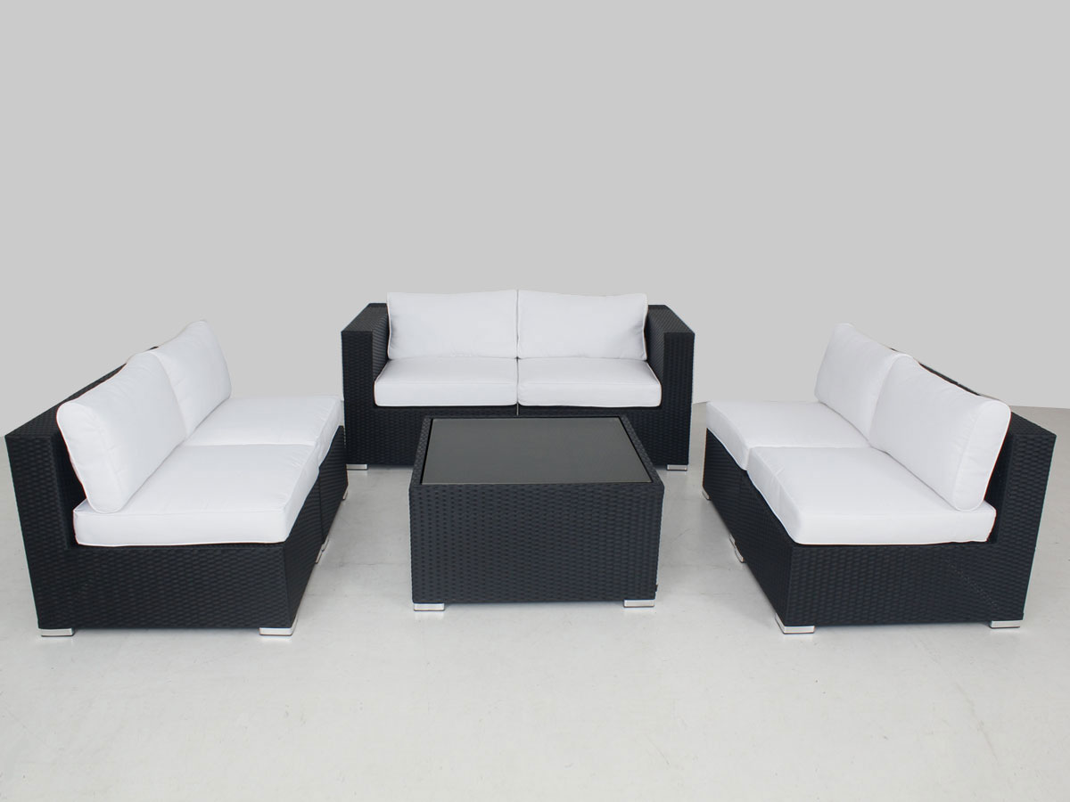 Large Modular Lounge Black Majeston Modular Outdoor Furniture Lounge