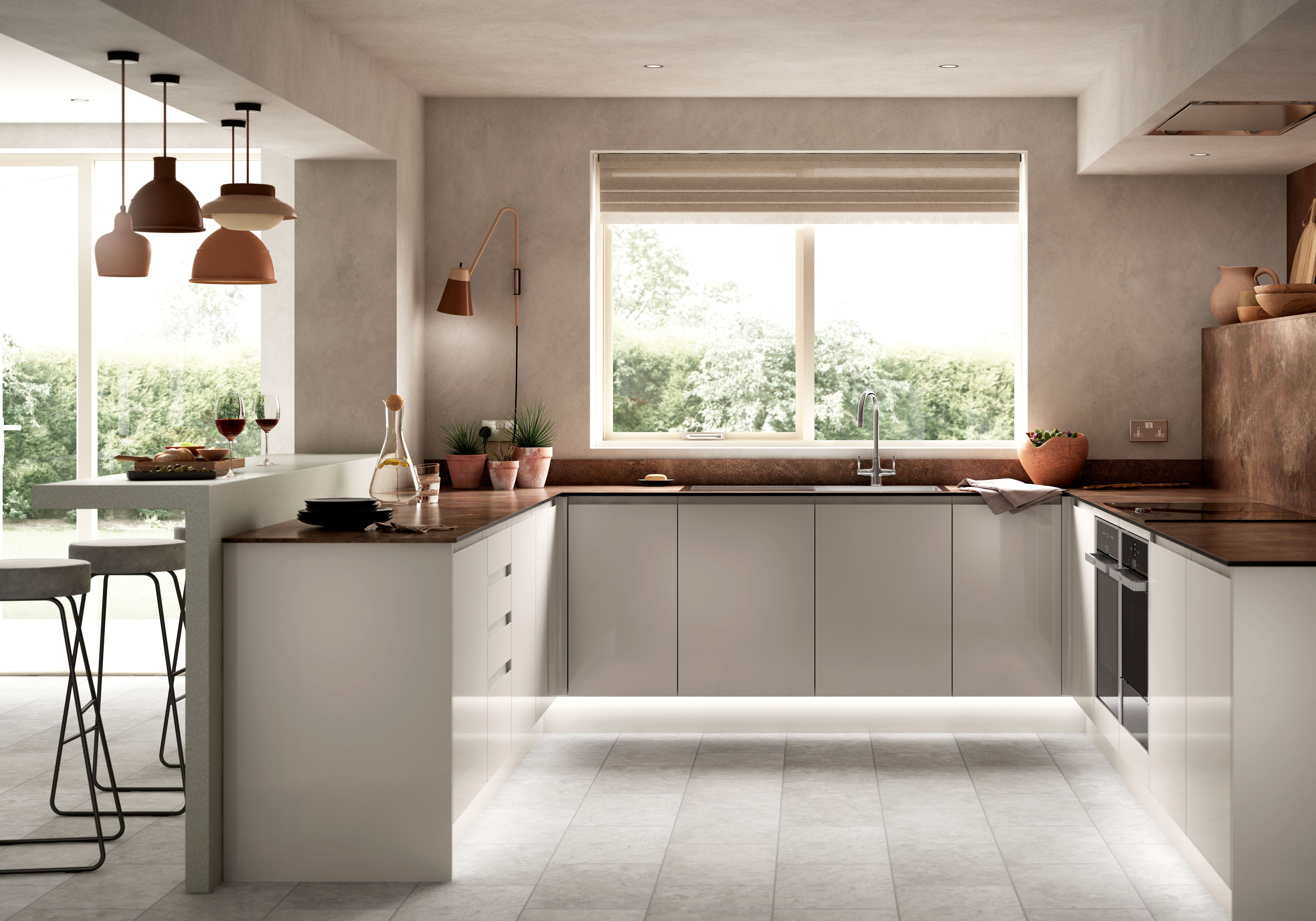 Cream Kitchen Island Unit Sofia Cashmere | Wickes.co.uk