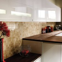 Wickes Beige Polished Marble Mosaic Tile - 305 x 305mm ...