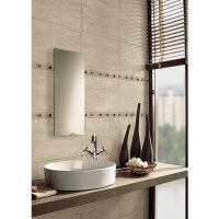 Wickes Sofia Beige Travertine Natural Stone Mosaic Border ...