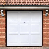 Wickes Georgian Grp Garage Door White 2134 x 2135mm ...