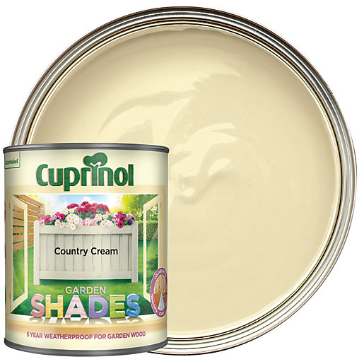 Cuprinol Garden Shades Matt Wood Treatment Country Cream 1l Wickes Co Uk - Garden Furniture Clearance Near Me