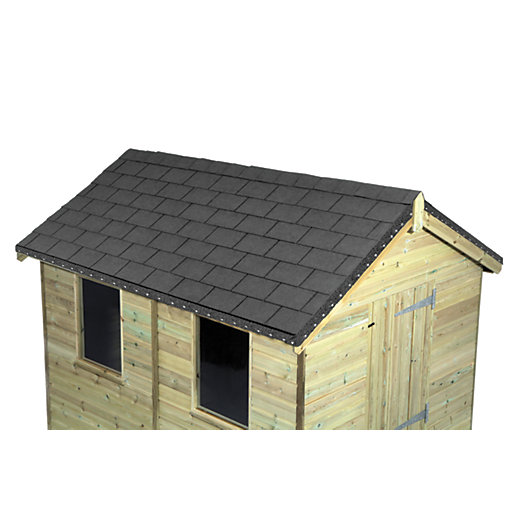 3d Grey Brick Effect Wallpaper Wickes Grey Roofing Shingles 2m2 Pack 14 Wickes Co Uk