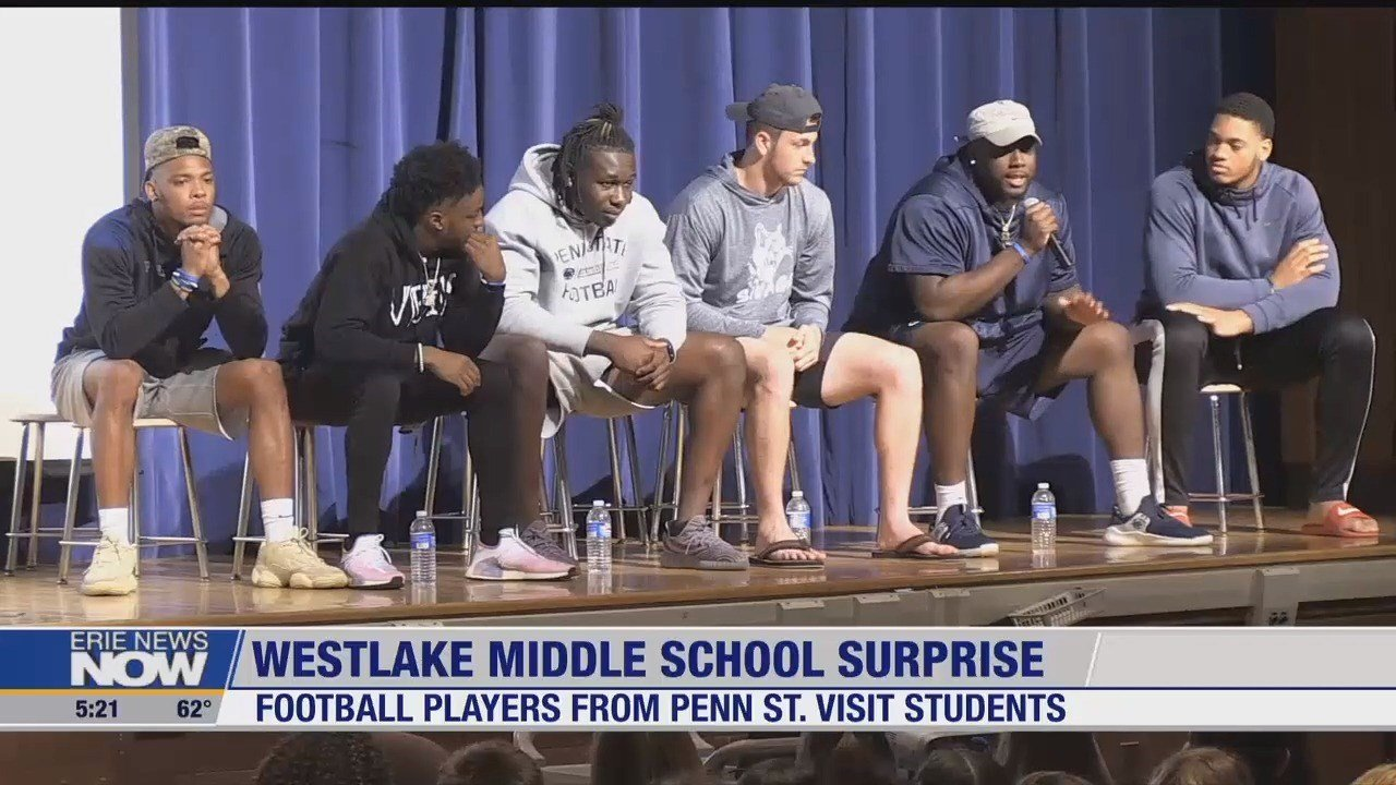 Penn State Football Penn State Football Players Surprise Westlake Middle School Stud