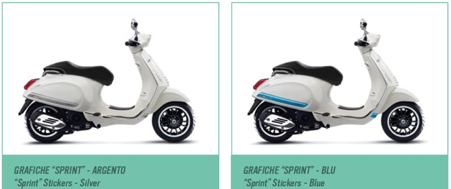 Houten Jaloezieen 240 Breed Vespa Sprint Stickers