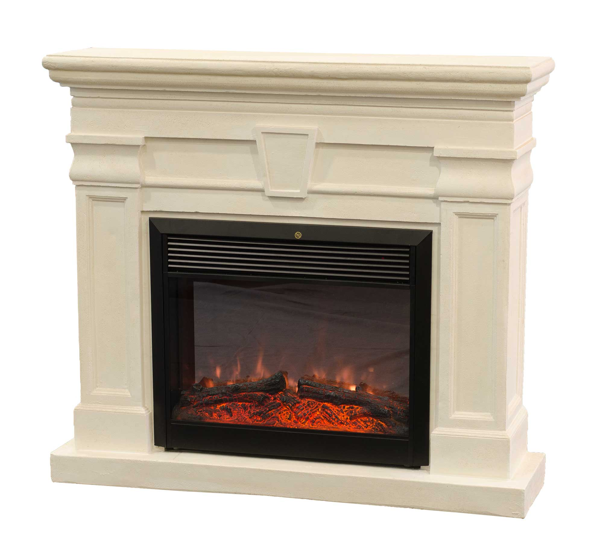 Antique White Gel Fireplace Электрокамин Kellie Real Flame