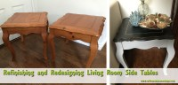 Refinishing and Redesigning Living Room Side Tables