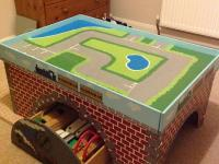 Wooden Play Table with Storage and Wooden Train Set (BRIO ...