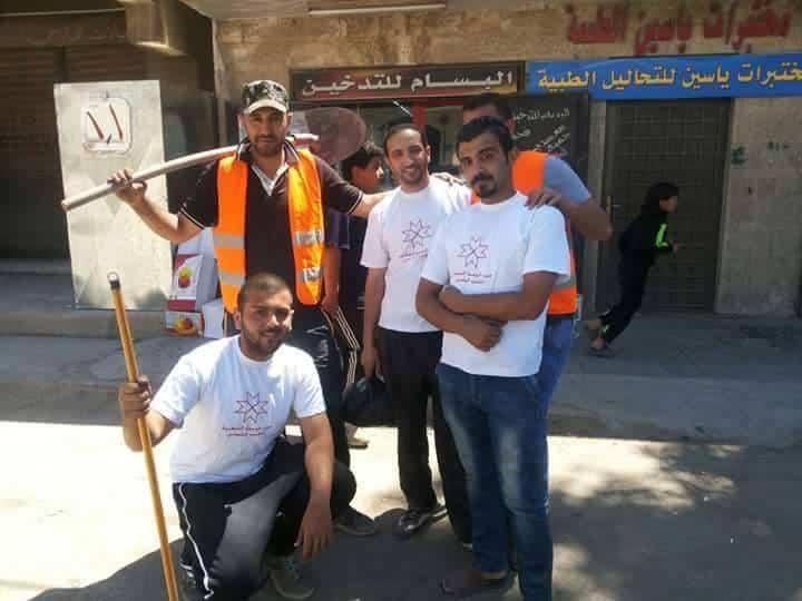 يوم عمل تطوعي لشبيبة الحزب في إربد والبقعة احتفالاً بعيد العمال