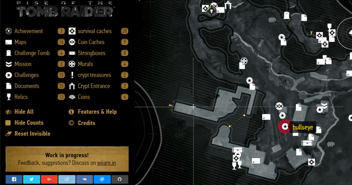 Rise of the Tomb Raider - Interactive Map