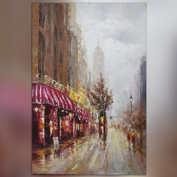 Tableau Moderne Rouge Peinture Contemporaine New York