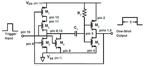 nor gate monostable circuit