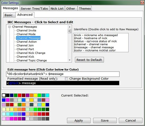 Colors - IceChat Wiki