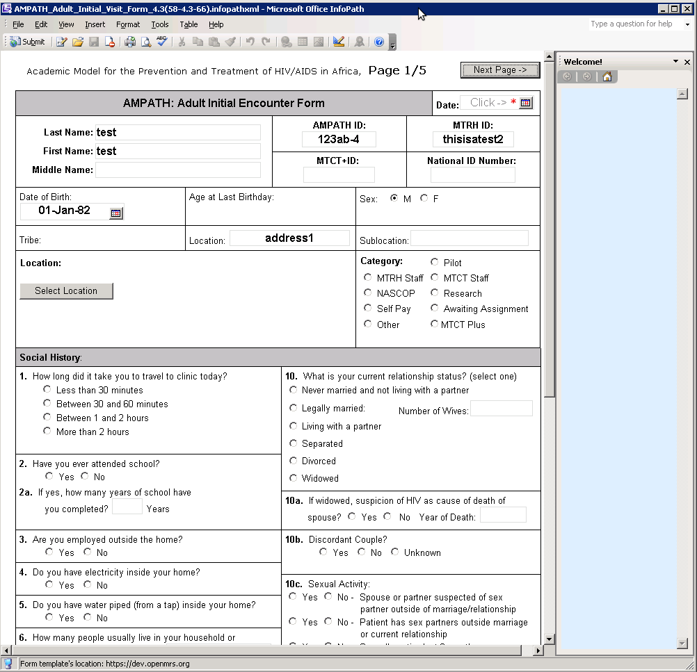 sample infopath forms