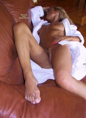 nude women open bathrobe