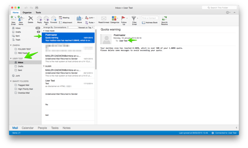 How To Create Calendar Folder In Outlook Create A Folder In Outlook Outlook Outlook 2016 For Mac And Ews Setup Zimbra Tech Center