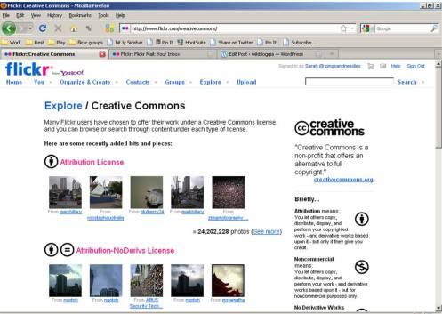 flickr creative commons screenshot