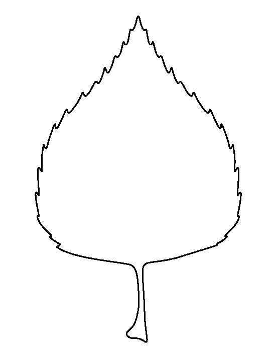 Leaf outline birch leaf pattern use the printable outline for crafts