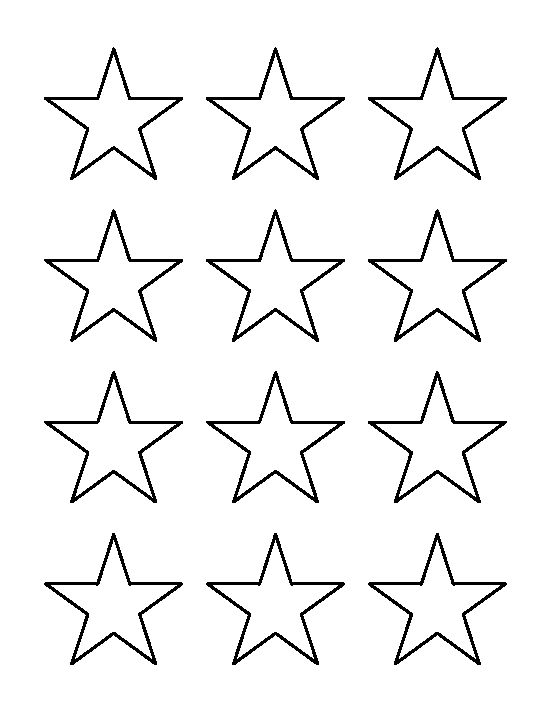 Star outline images 2 inch star pattern use the printable outline - star template