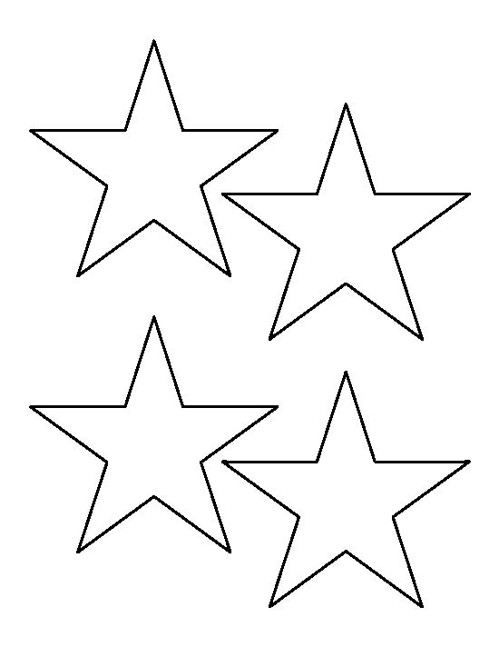 Star outline images 4 inch star pattern use the printable outline - star template
