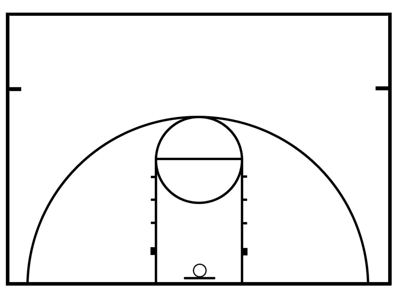 basketball key template - Goalgoodwinmetals - black and white basketball template