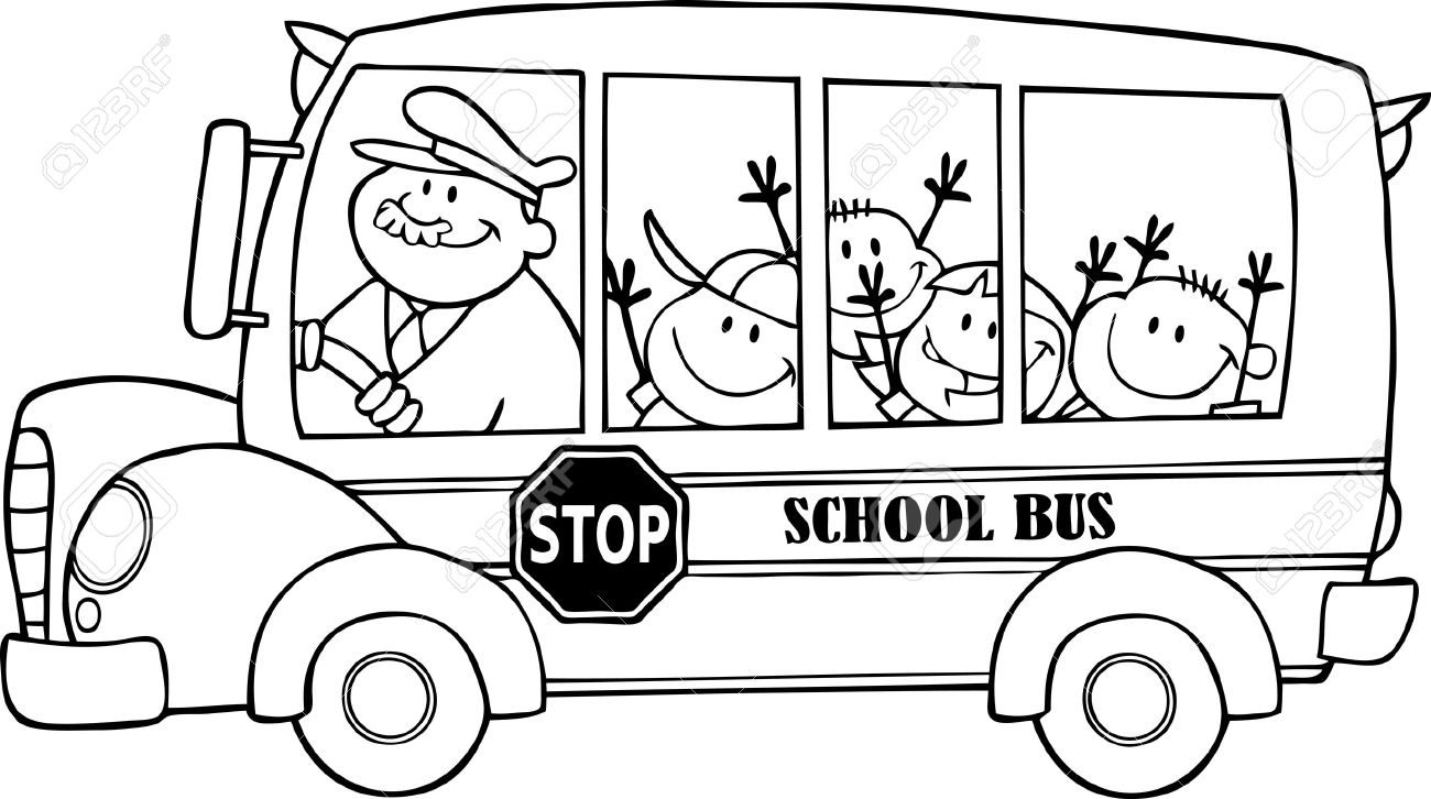 Melonheadz School Clipart Black And White Auto Electrical Wiring Switch Diagram Delco 1119844 Bus