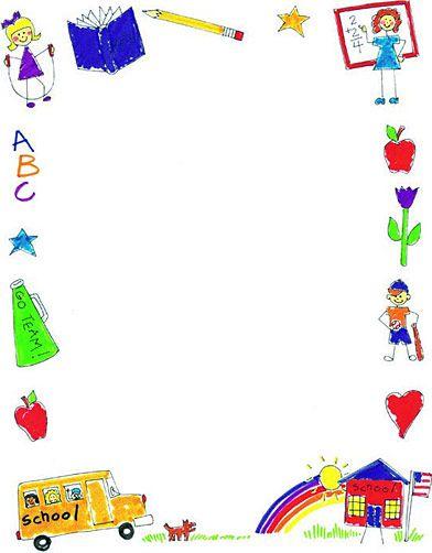 Preschool borders black and white clipart 4 - WikiClipArt
