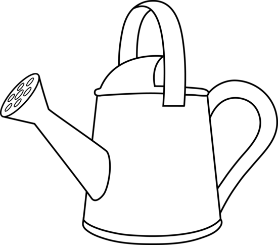 cartoon watering can