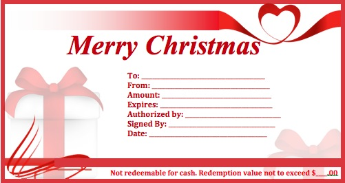 Download Christmas Gift Certificate Templates wikiDownload - christmas gift vouchers templates