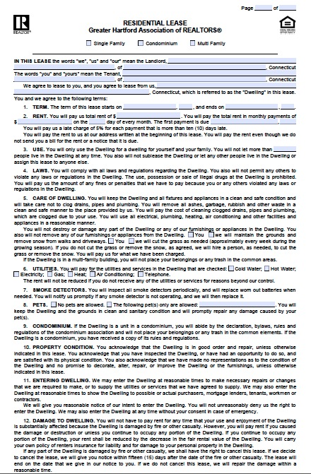 Download Connecticut Rental Lease Agreement Forms and Templates