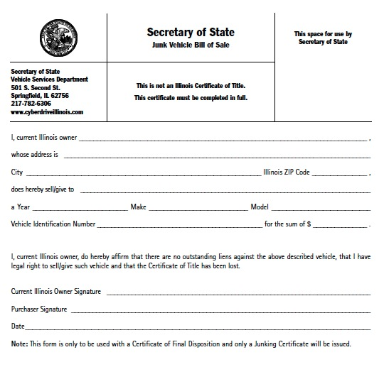 Download Illinois Bill of Sale Forms wikiDownload