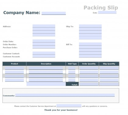 Packing Slips For Shipping  NodeCvresumePaasproviderCom