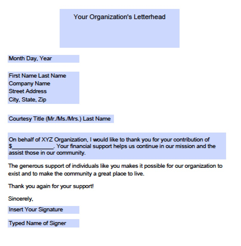 Download Donation Thank You Letter Templates Samples wikiDownload - donation thank you letter