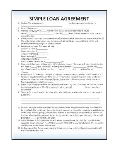 Download Simple Loan Agreement Template | PDF | RTF | Word wikiDownload