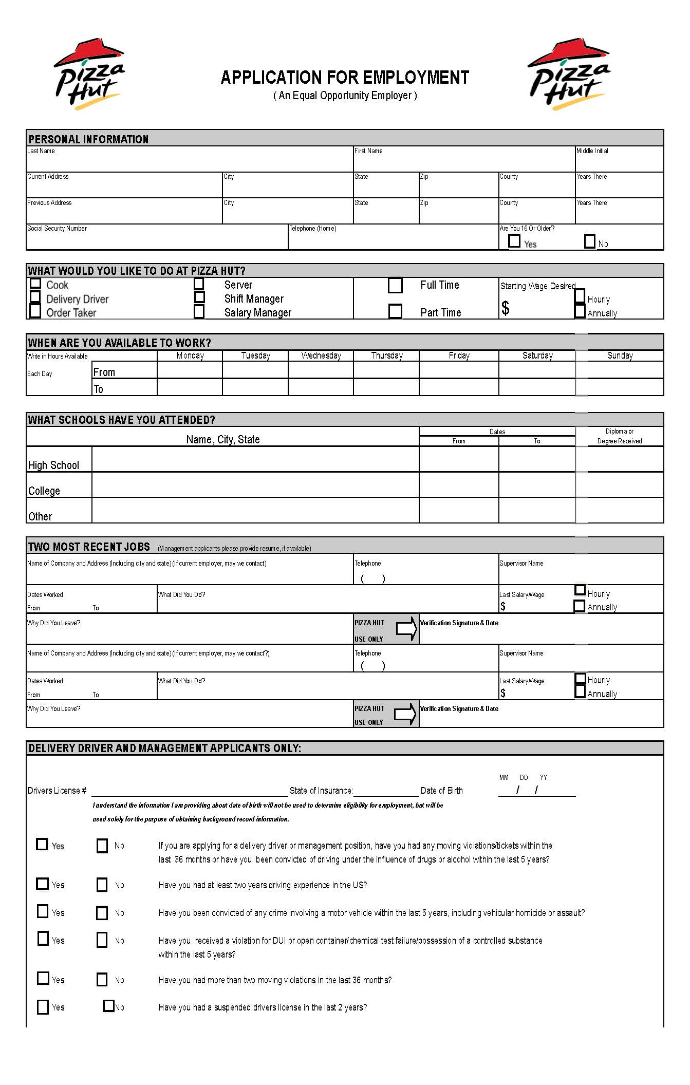 ross job application resume templates ross job application tjxjobs online job application pizza hut application online printable employment application form