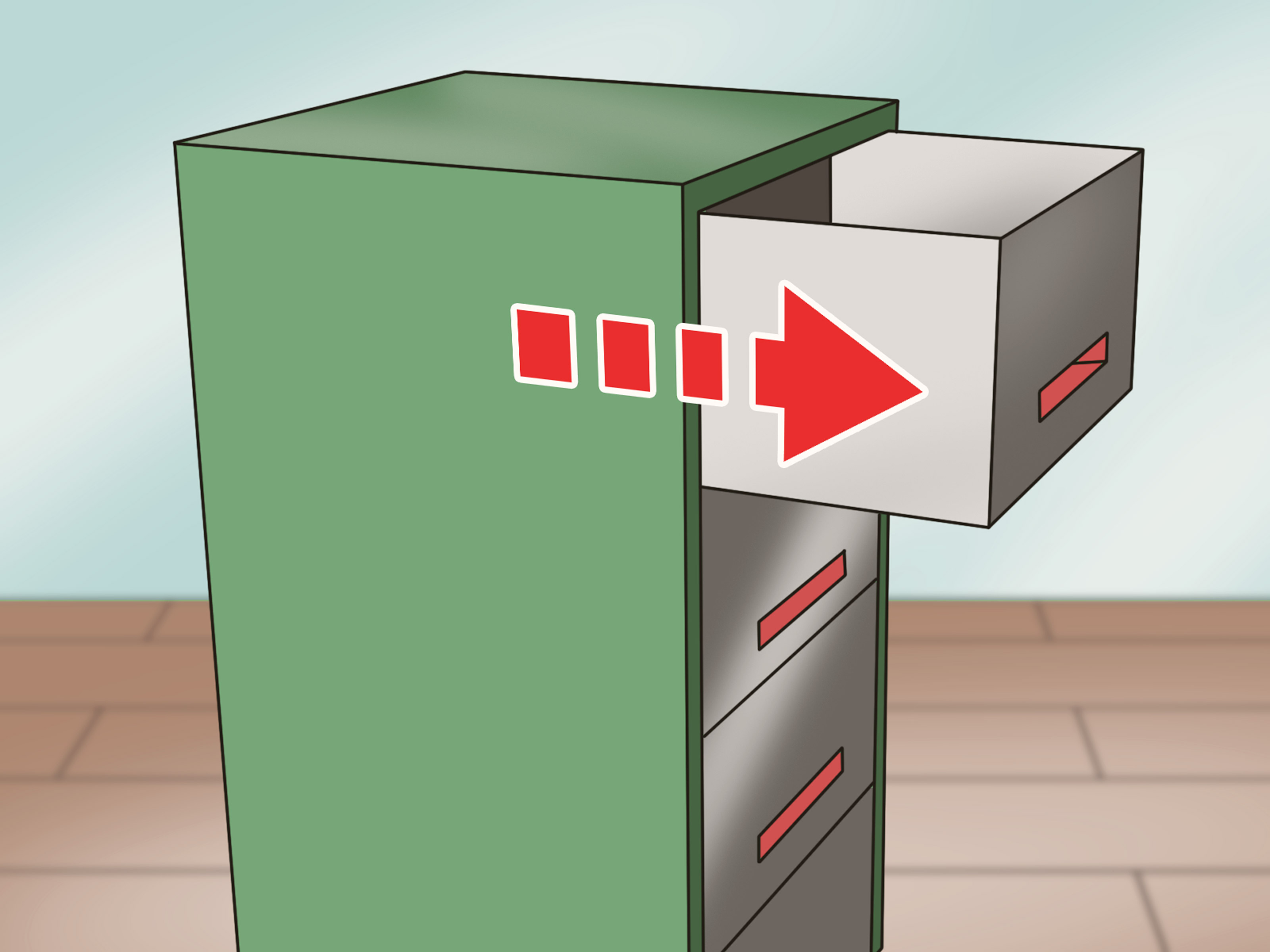 Filing Cabinet Insert How To Pick And Open A Locked Filing Cabinet Wikihow