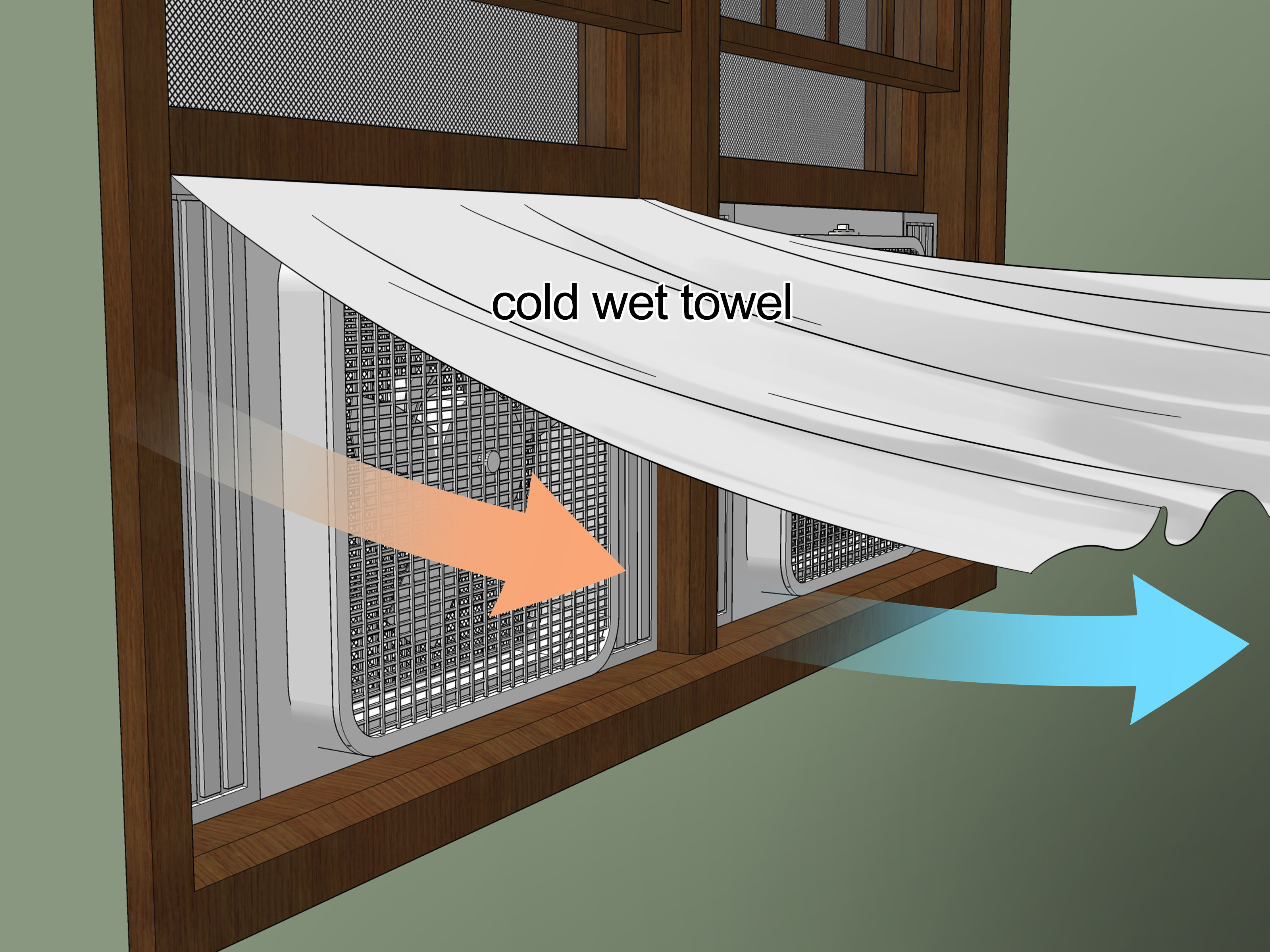 Garage Fan Attic Cooler The Best Way To Use Window Fans For Home Cooling Wikihow