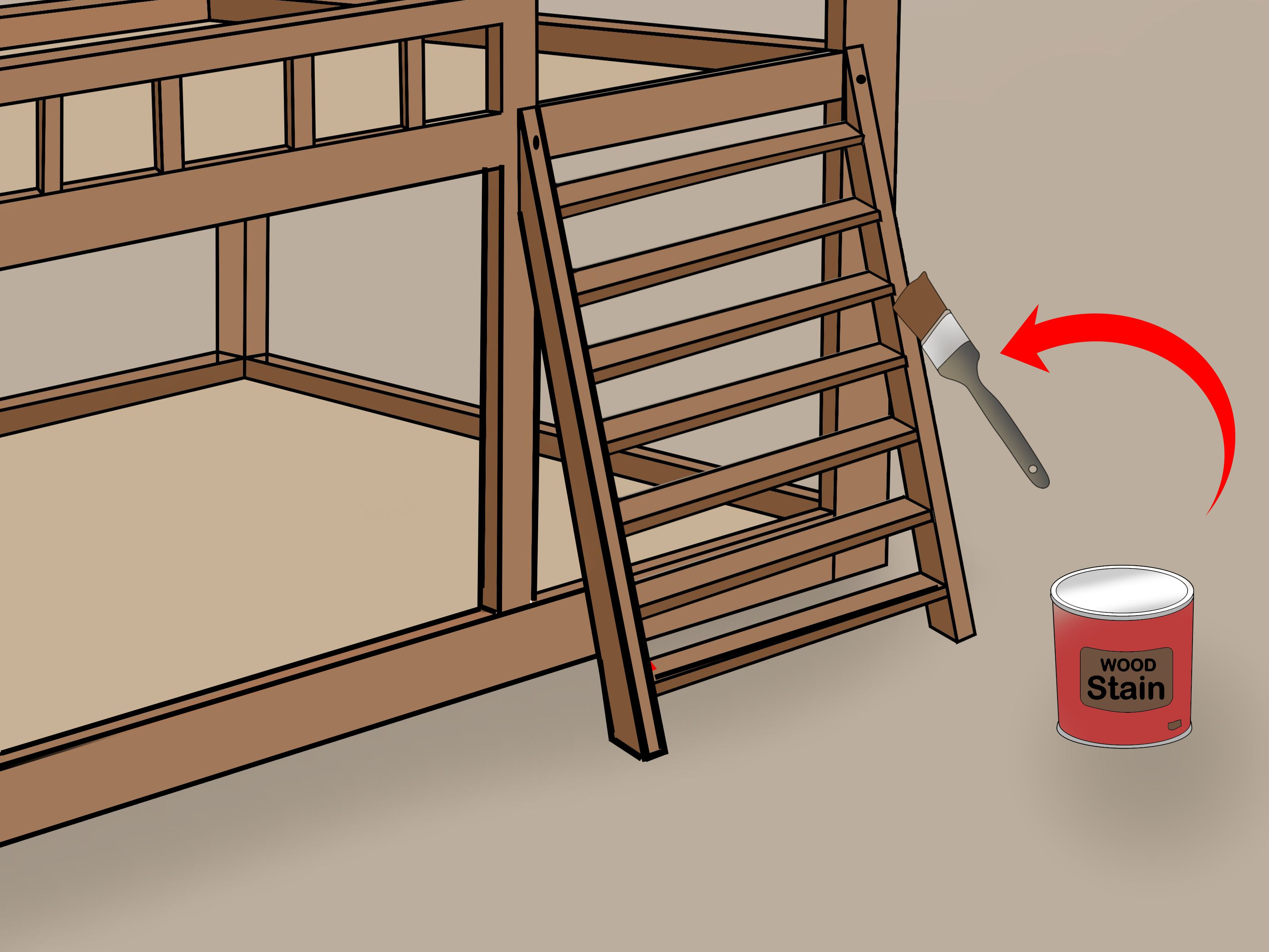 Building A Bunk Bed With Stairs How To Build Bunk Bed Stairs With Pictures Wikihow