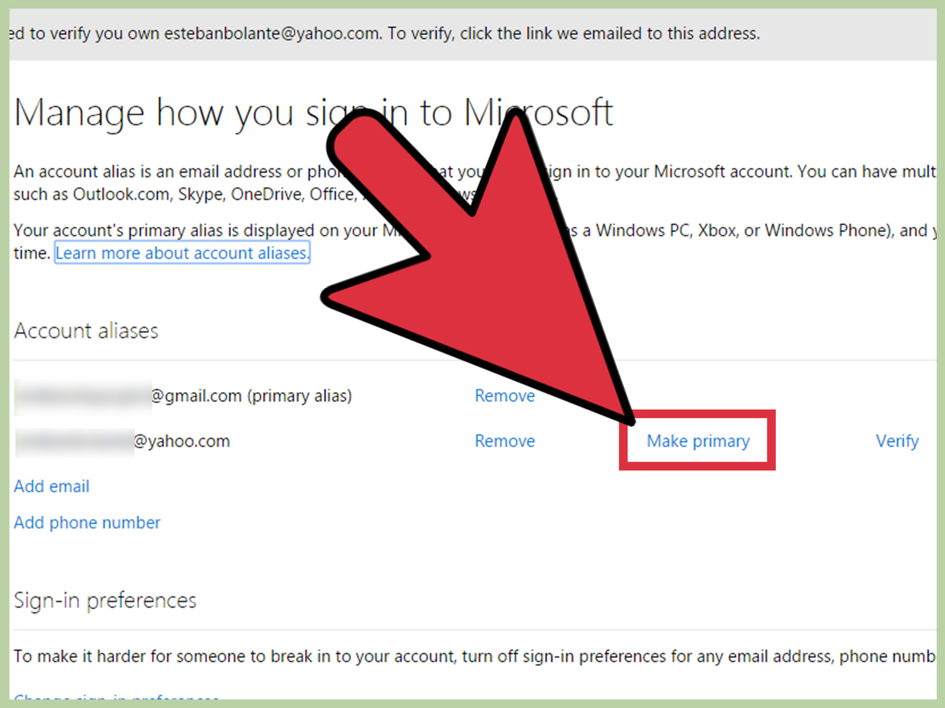 Google Play Konto ändern How To Change Your Primary Email For A Microsoft Account: 7 Steps