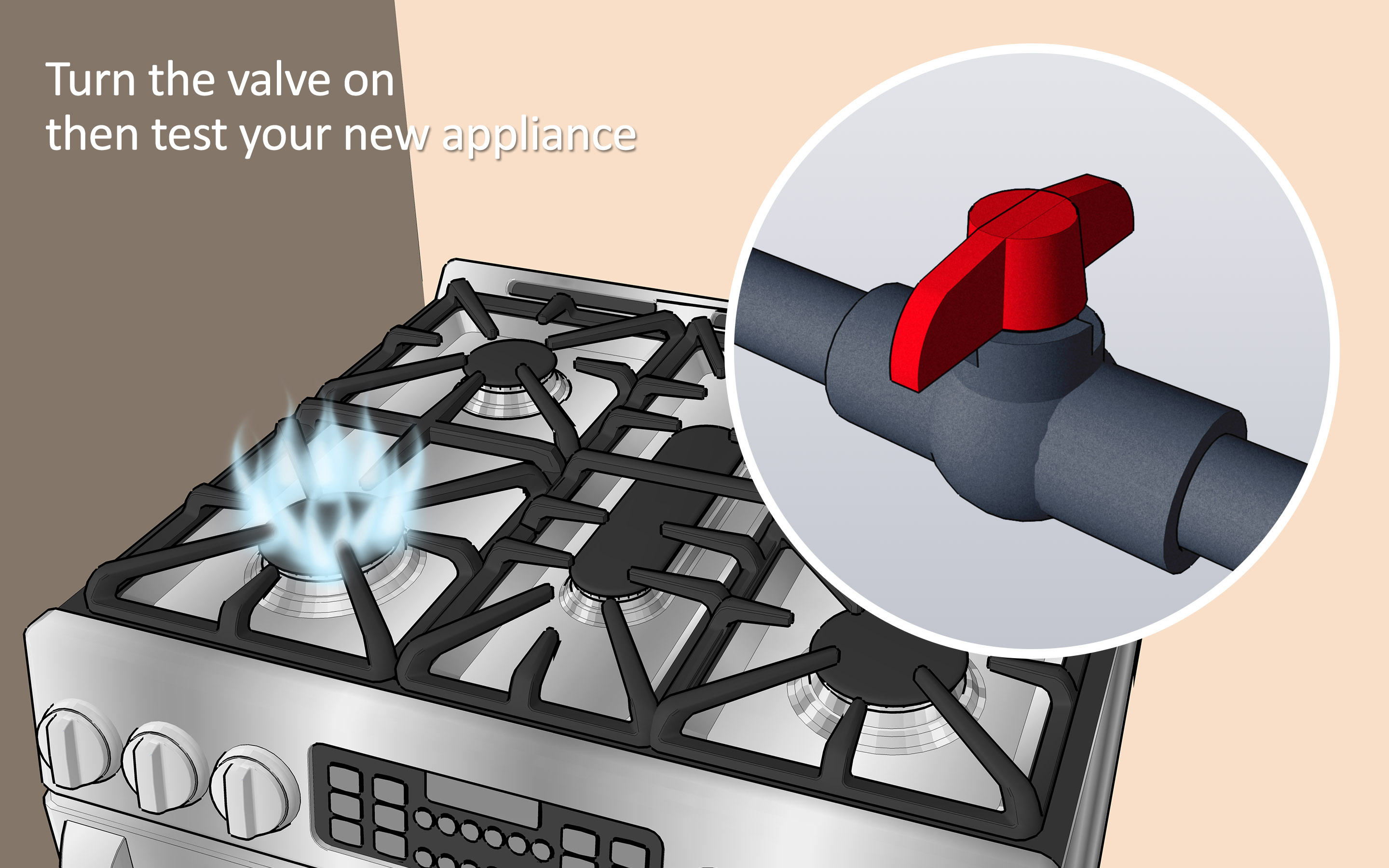 Gas Cooktop Installation Cost How To Install A Gas Line 6 Steps With Pictures Wikihow