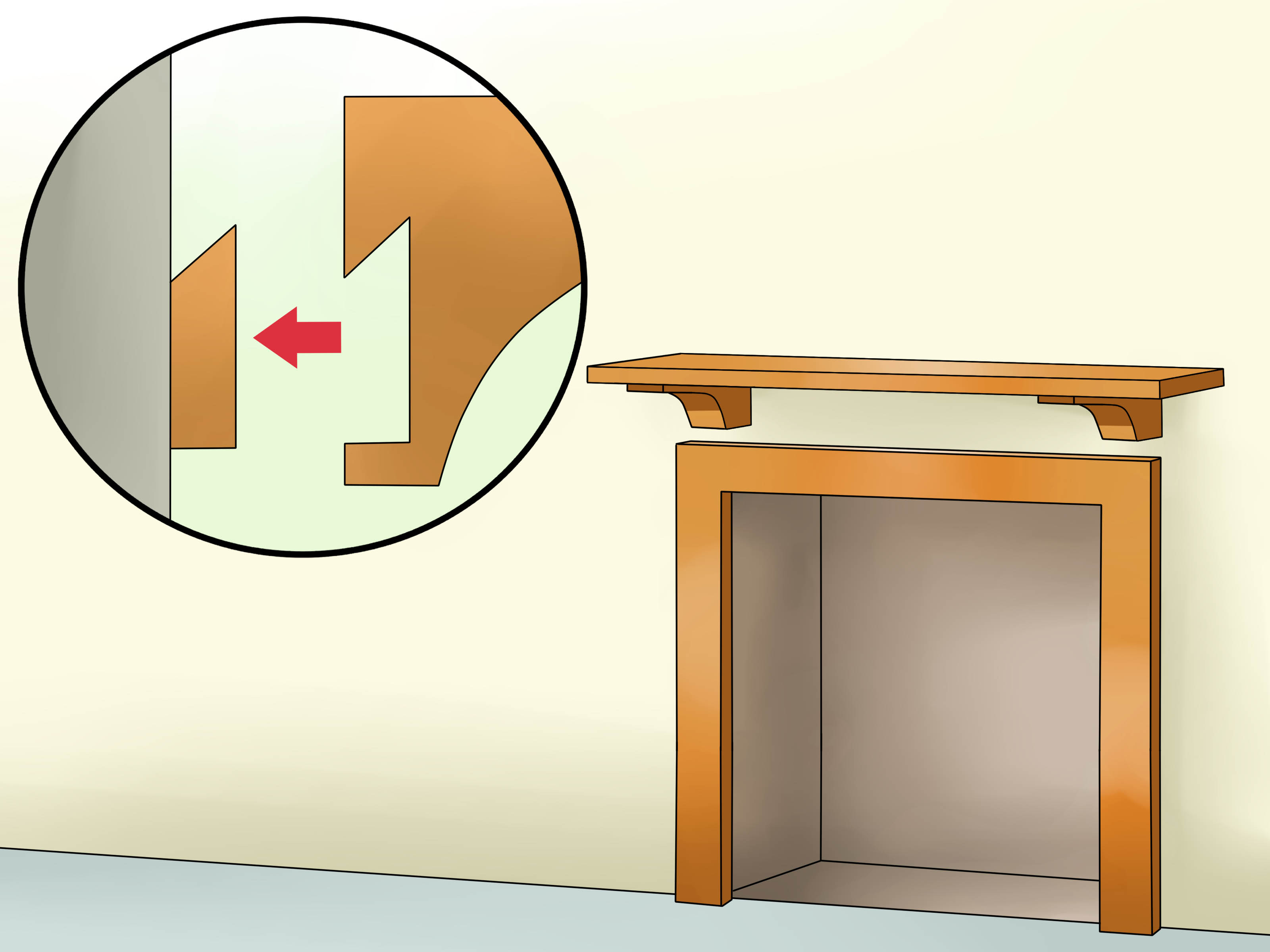 6 Ft Fireplace Mantel How To Install A Fireplace Mantel 14 Steps With Pictures