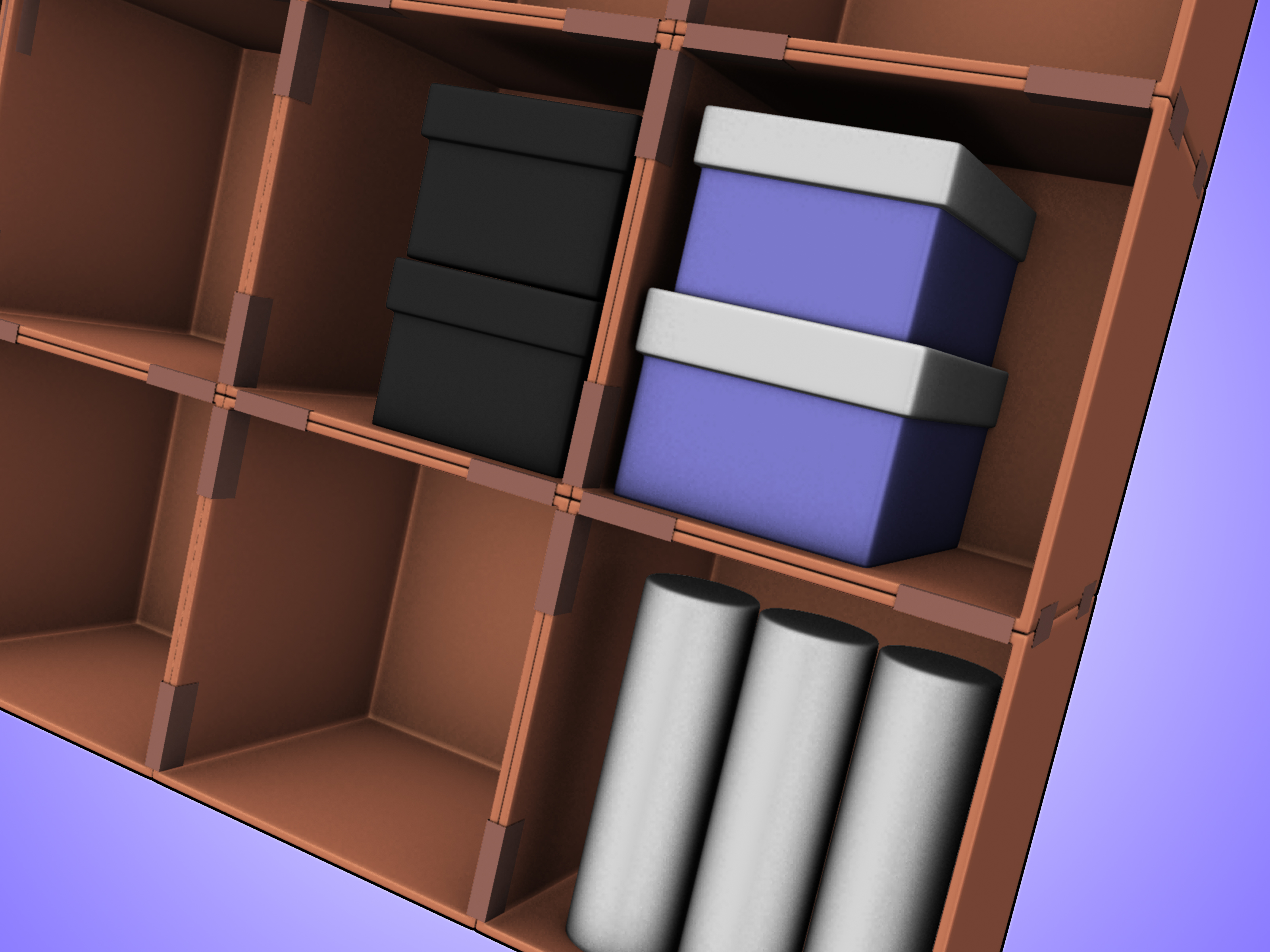 Cardboard Box Dividers How To Make A Cardboard Box Storage System 4 Steps