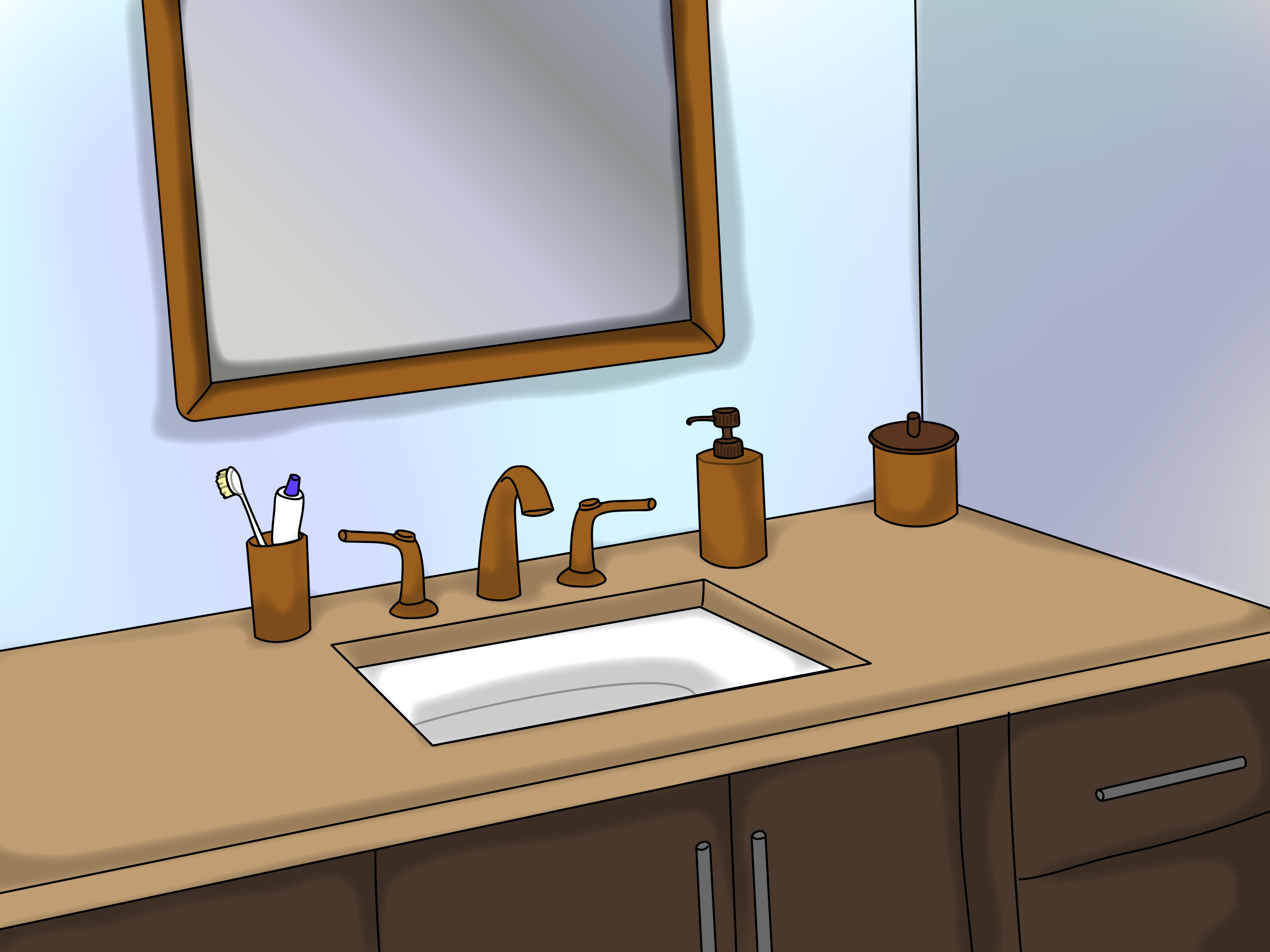 How To Polish Bathroom Countertops How To Clean And Maintain Bathroom Vanities 7 Steps