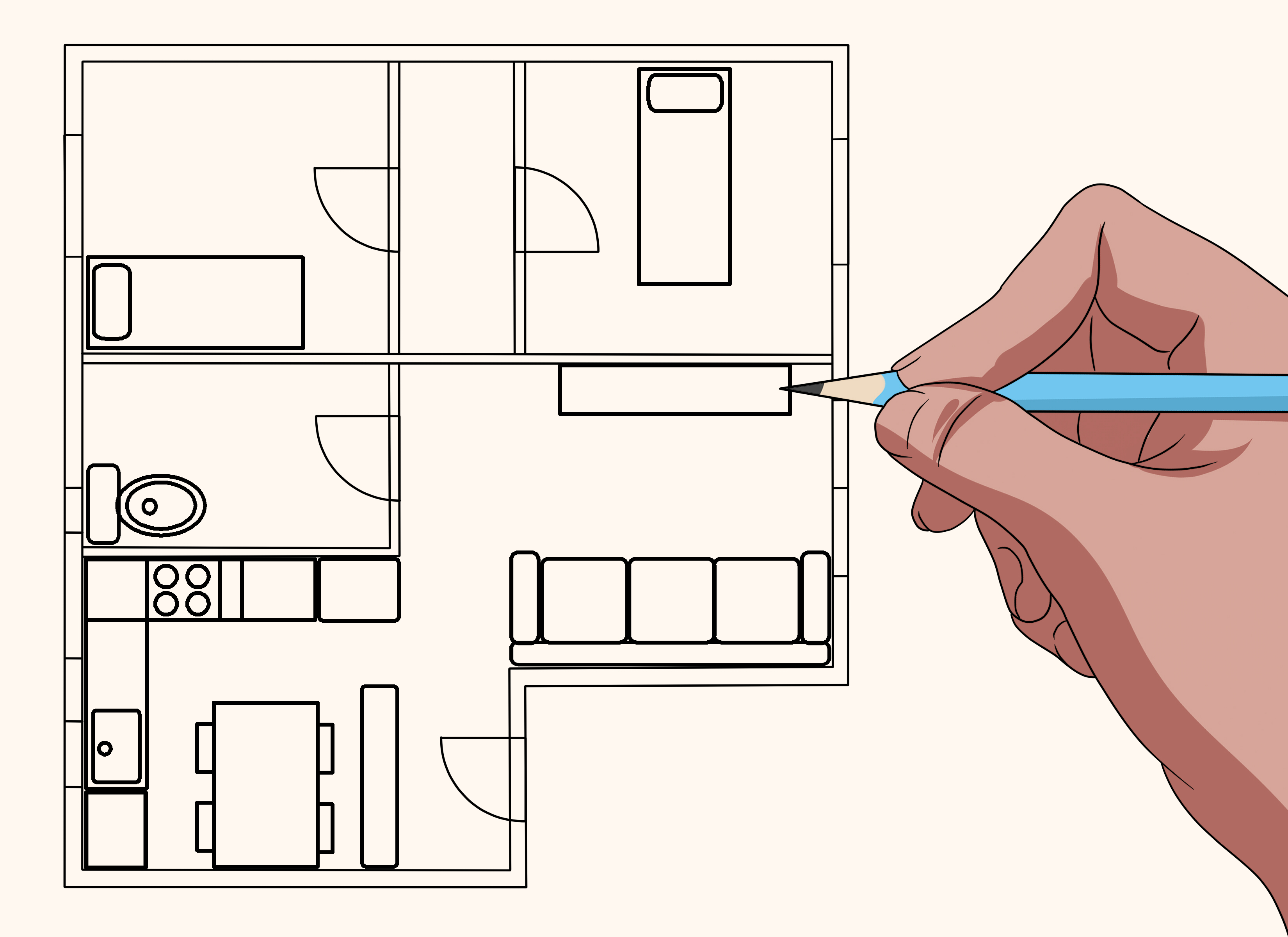 Draw House Plans Free How To Draw Blueprints For A House With Pictures Wikihow