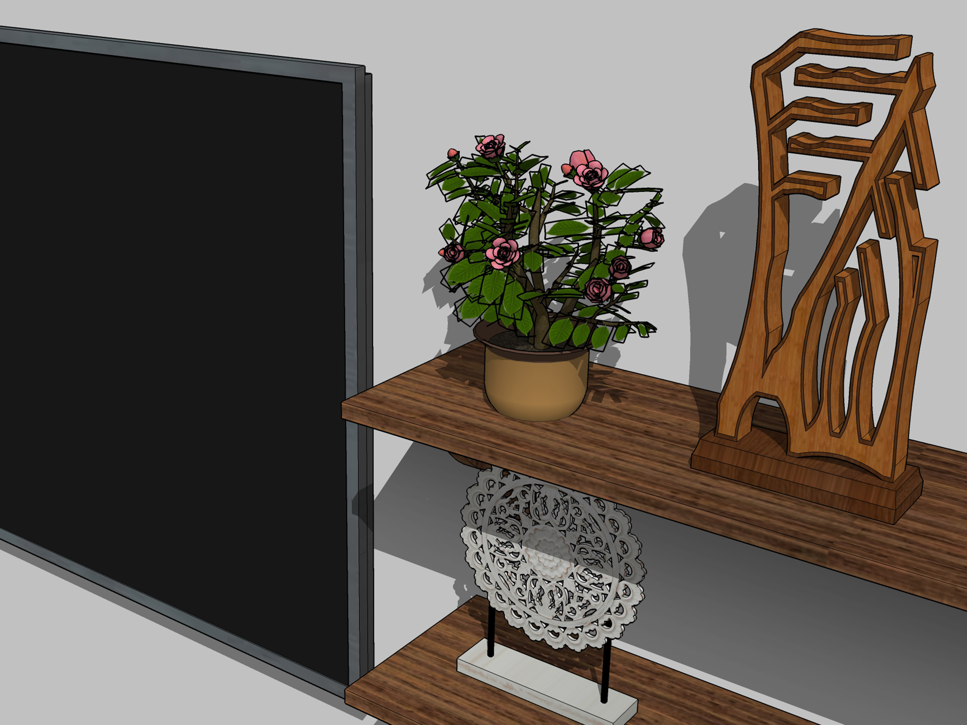 Wood Wall Behind Tv 3 Ways To Decorate A Wall Behind A Tv Stand Wikihow