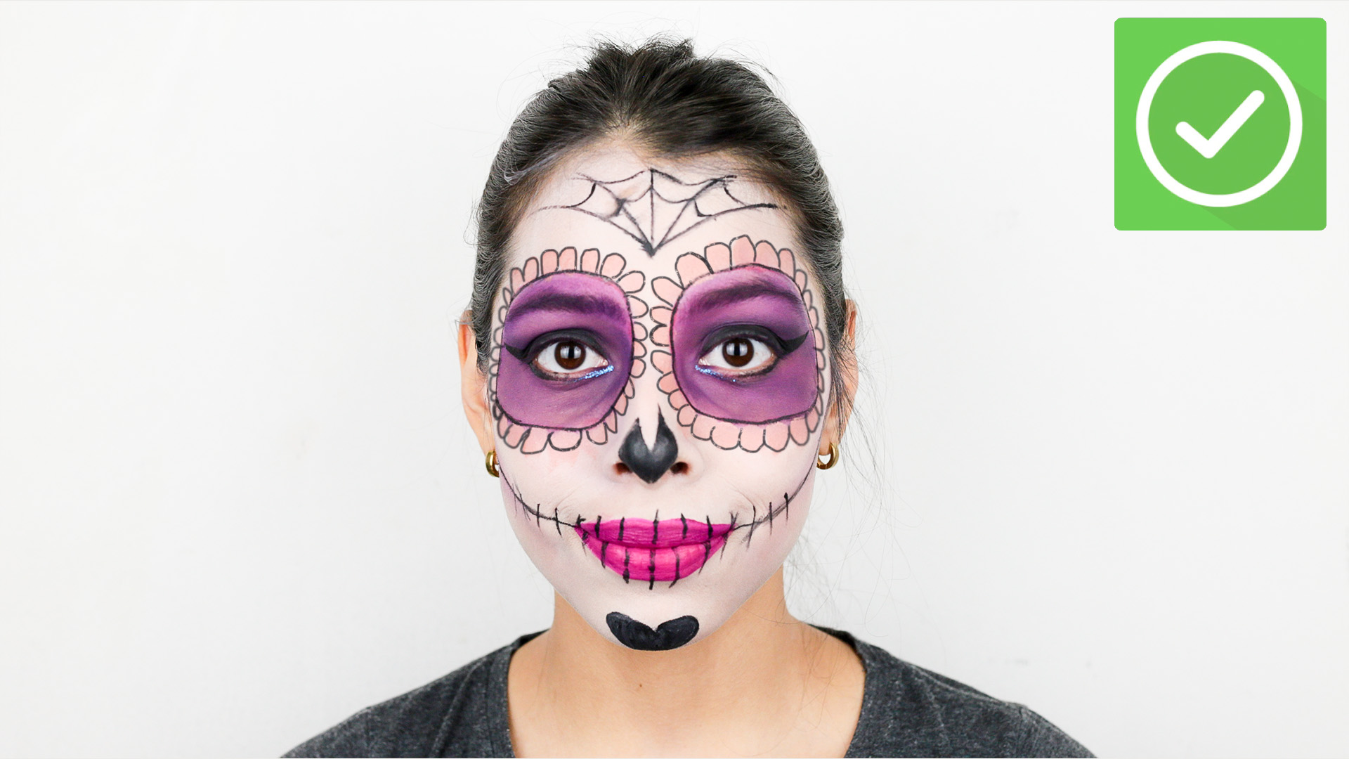 Halloween Make Up Anleitung How To Apply Day Of The Dead Makeup 14 Steps With Pictures